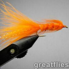 1 dozen (12) - Woolly Bugger - Orange