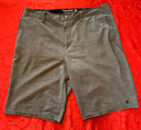 Nice Quicksilver Amphibian Shorts Mens Size 36 x 22 Gray Board Surf Stretch 🔥