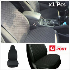 Black Car Seat Cushions Linen Protector Pad Mat for Front Interior Accessories