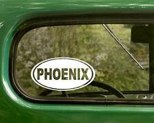 2 PHOENIX DECALs Arizona Oval Sticker For Bumper Truck Car Window Laptop Rv Jeep