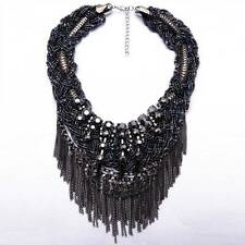NEW ZARA BEAUTIFUL BLACK TASSELS NECKLACE - NEW