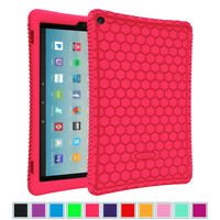"For Amazon Fire HD 10 10.1"" 7th Generation 2017 Tablet Silicone Case Back Cover"