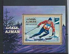 AJMAN , 1972 OLYMPICS ,  SOUVENIR SHEET . PERF , MNH