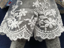Luna lapin Handmade Floral Lace Design French Knickers In Ivory.