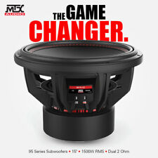 MTX 95 SERIES 9515-22 15 INCH SUBWOOFER 1500W RMS Dual 2Ω  FREE SHIPPING SALE!!!