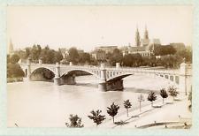Suisse, Bâle (Basel), Pont sur le Rhin  Vintage albumen print. Vintage Switzerla