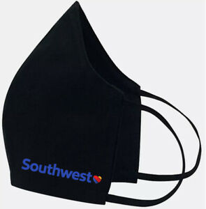 Southwest Airlines - Face Mask Cover Fashion 2 Layers + Pocket Custom Made in US