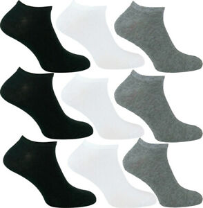 1-24 Mens Womens Kids INVISIBLE Ankle Cotton Sports Trainer Socks Comfort Lot UK