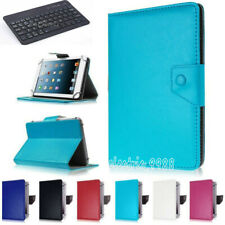 """Folios Case Cover Stand with Keyboard For 7"""" 8"""" 10.1"""" Samsung Galaxy Tab A/2/3/4"""