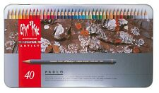 CARAN D'ACHE PABLO PERMANENT COLOURED PENCILS - Tin of 40 Assorted Colours