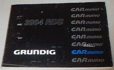 Betriebsanleitung Grunding Autoradio WKC 3904 RDS