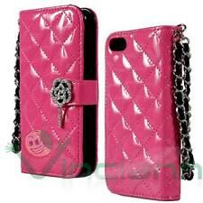 """Custodia cover BOOK glamour FUCSIA per iPhone 6 4.7"""" 6S portafoglio libretto"""
