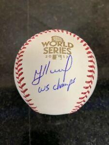 "Jose Altuve Astros Autographed ""WS Champs"" 2017 World Series Baseball Beckett"