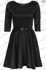 Vêtements noirs courtes manches courtes pour fille de 2 à 16 ans