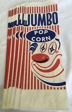 20 Jumbo Clown Pinch Bottom Pop Corn Bag Large 4x2x12 Popcorn Bags Party