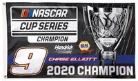 Chase Elliott Flag 3x5 2020 Sprint Cup Champion NASCAR Cup Series Hendrick Motor