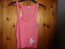 Pretty coral pink lightweight summer vest top, REISS, size Small, UK size 8