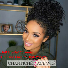 """20"""" 130% Curly 360 Lace Frontal Wig Cap Brazilian Remy Human Hair Closure"""