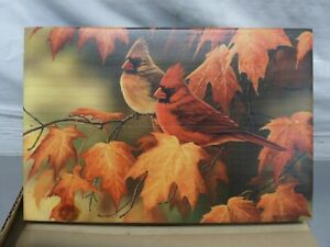 """WGI 'Maple Leaves & Cardinals' Wooden Wall Art # 8"""" x 12"""""""