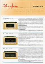 Accuphase CATALOGO COMPLETO m-6000 p-7100 p-6100 p-4100 ect. b1203