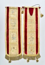 IMPORTANT 16TH CENTURY GOLD ITALIAN FLORENCE CHASUBLE EMBROIDERY TEXTILE ORPHREY
