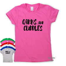 Carbs And Cuddles funny T shirt humour mens gift womens sarcastic tee slogan top