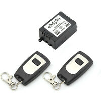 Wireless Remote Control Light Switch RF Relay 433MHz 2Transmitters AC 220V 1CH