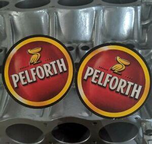 Pair of Pelforth Cardboard Beer Coasters, Bières De Caractère, Man Cave Scatter