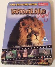 "BNIB ""WILDLIFE DIARY"" RealityTV SHOW 8 DVD COLLECTORS Edition GiftSet MetalBOX"