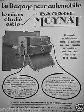 PUBLICITÉ 1927 MOYNAT LE BAGAGE POUR AUTOMOBILE LE MIEUX ÉTUDIÉ