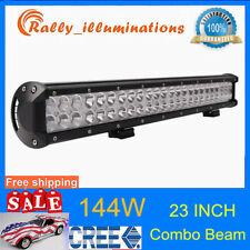 23inch 144W Cree Led Work Light Bar Flood Spot Suv Boat Driving Lamp Offroad /22