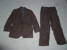 Vintage Polo Ralph Lauren Mens 2 Piece Fitted Tweed Wool Suit Set Pants Jacket >