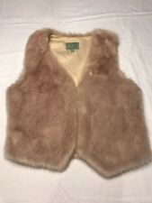 skies are blue small Light Rose Pink Fur Vest