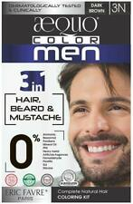 Indian AEQUO Permanent Organic Hair Color, Men 3 N Dark Brown, 170 ml