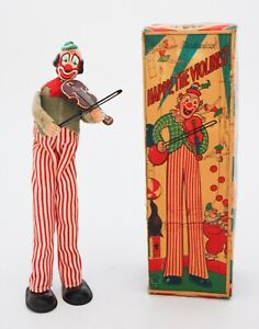 Litho Tin Toy - Happy the violinist - TPS JAPAN - With Original Box