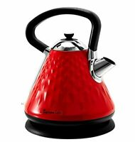 Fortune Candy 1.7L Electric Water Kettle Cordless Stainless Steel BPA Free RED