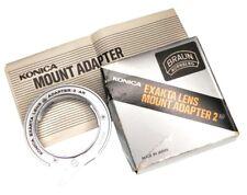 Konica adapter allow Exakta mount Lenses on Konica AR Bodies  ......... LN