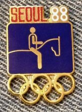 Equestrian Olympic Pin ~ Pictogram Blue ~ 1988 ~ Seoul ~ Cloisonne by HoHo NYC