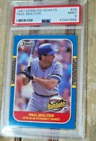 1987 Paul Molitor Donruss Highlights #29  PSA 9 MINT Baseball Card Brewers