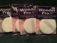 """Lot 4 Powder Puff For Body  With Ribbon Handle,3.5"""", Brand New,(not Fluffy)"""