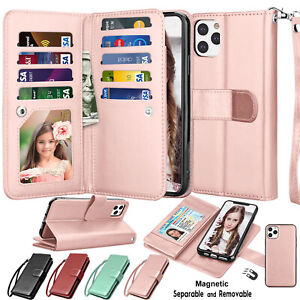 For iphone 12 11 Pro Max XS X XR SE 2 XS Max 7 8 Leather Wallet Flip Case Cover