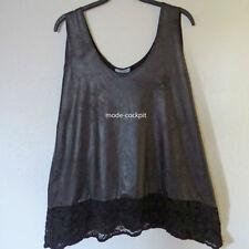 Damenblusen, - tops & -shirts mit Rundhals-Ausschnitt und Spitze in Größe 40