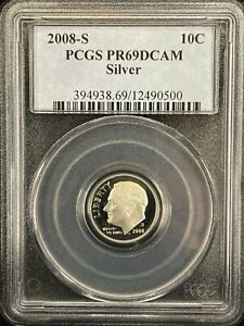 2008 S ROOSEVELT PCGS PROOF 69 DEEP CAMEO SILVER FREE SHIPPIING