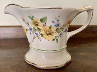 Semi Vitreous Yellow Floral Edwin M. Knowles China Co. USA Creamer/Pitcher EUC