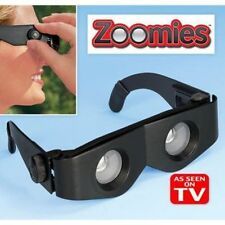 ZOOMIES HANDS FREE BINOCULARS YOU WEAR LIKE SUNGLASSES 400% MAGNIFICATION GLASS