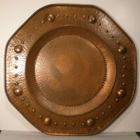 Belgian Hand Hammered Large Copper Hanging Platter