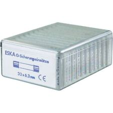 ESKA 632.830 Slow Blow Micro Fuses 6.3 x 32mm, Pack of 120