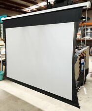 SG Audio Visual Motorized Electric Projector Screen White Screen: 220cm X 140cm