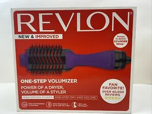 Revlon PRO Collection Salon One Step Hair Dryer and Volumizer Brush Purple New