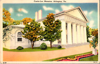 Vintage C. 1920's View of Custis Lee Mansion Arlington Virginia VA Postcard